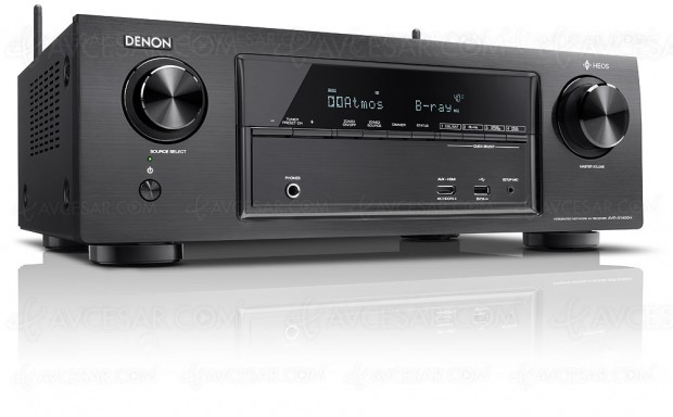 Denon AVR-X1400H, amplificateur 7.2, multiroom Heos, Dolby Atmos 5.1.2 et DTS:X