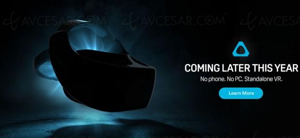 Casque réalité virtuelle (RV) autonome HTC Vive compatible Google Daydream