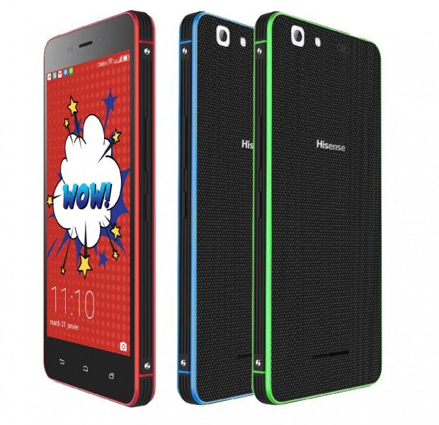 Smartphone Hisense Rock Lite, déclinaison colorée du Rock Mini