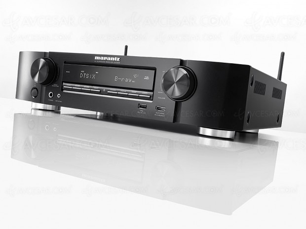 Marantz NR1608, amplificateur slim 7.2, Upcaling Ultra HD, multiroom Heos, HDR, Dolby Atmos 5.1.2 et DTS:X 7.1