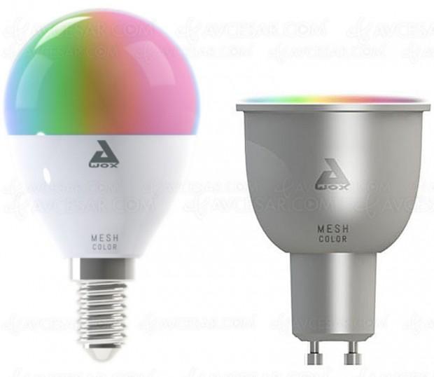 Nouvelles ampoules connectées AwoX Smartlight Mesh E14 et AwoX Smartlight Mesh GU10