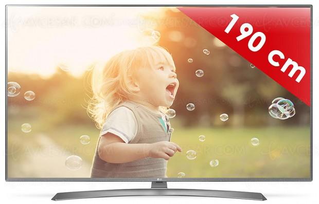 TV LED Ultra HD LG UJ675V, unique téléviseur 75