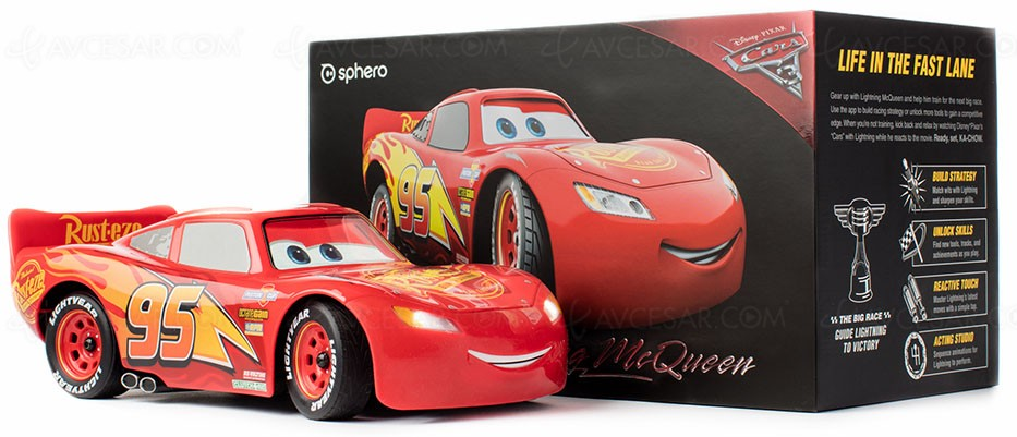 voiture t l command e sphero ultimate lightning mcqueen. Black Bedroom Furniture Sets. Home Design Ideas
