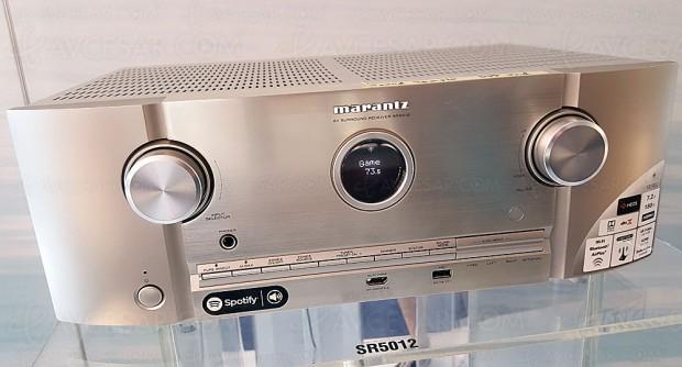 Marantz SR5012 : amplificateur 7.2, Upscaling Ultra HD, multiroom Heos, HDR, Dolby Atmos 5.1.2 et DTS:X 7.1