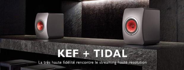 Le service de streaming Tidal disponible sur les enceintes sans-fil Kef LS50