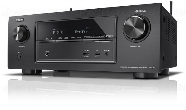 Denon AVR-X3400H, amplificateur 7.2, multiroom Heos, Dolby Atmos 5.1.2 et DTS:X 7.1, Upscaling Ultra HD/4K…
