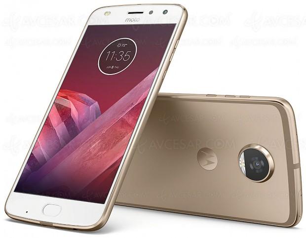 Smartphone modulaire Motorola Moto Z2 Play et les nouveaux Moto Mods se dévoilent