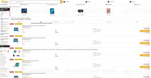 Bon plan Fnac, gamme Microsoft Surface Pro proposée à -20%