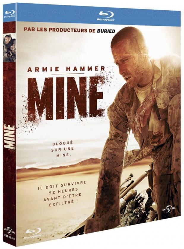 Mine en Blu-Ray et DVD : thriller en plein désert pour Armie Hammer
