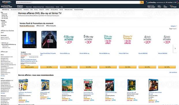 Amazon bonnes affaires DVD, Blu‑Ray et Séries TV, 7 368 BD/DVD à petit prix