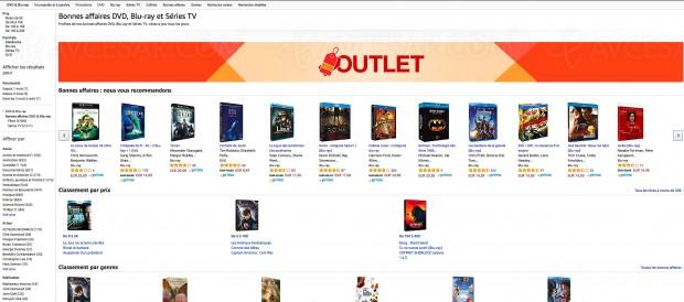 Amazon bonnes affaires DVD, Blu‑Ray et Séries TV, 7 000 BD/DVD à petit prix