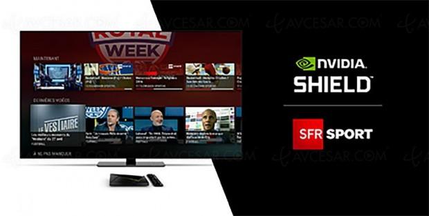 SFR Sport sur Nvidia Shield TV : un mois gratuit offert à saisir avant le 15 juillet