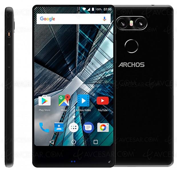 Archos Sense 55s, smartphone à écran quasi‑total (sans bords) et tarif agressif