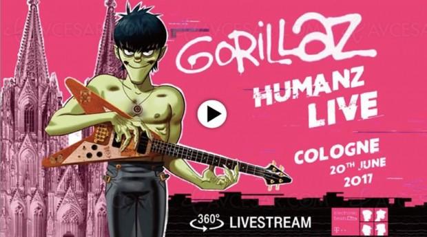Human Live : Gorillaz ce soir 21h30 en direct de Cologne et à 360°