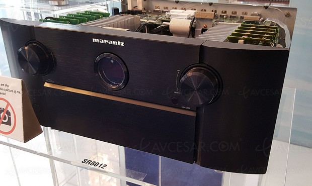 Marantz SR8012 : amplificateur 11.2, Upscaling Ultra HD, multiroom Heos, HDR, Dolby Atmos 7.1.4 et DTS:X 11.2