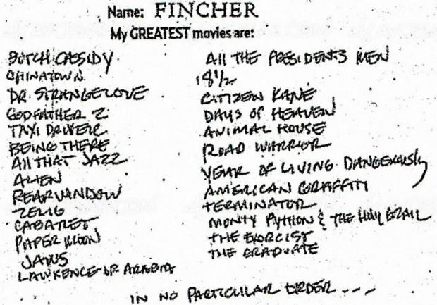 Et les 26 films préférés de David Fincher sont…