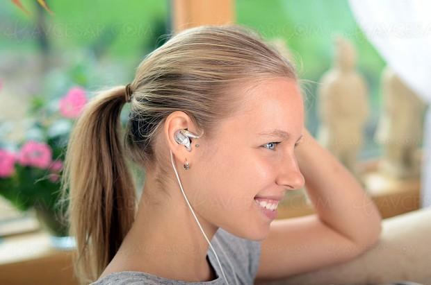 Écouteurs Optoma NuForce HEM Dynamic à câble détachable
