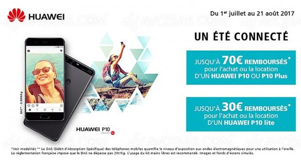 Réductions jusqu'à 70 € sur la famille smartphones Huawei P10