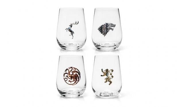 Verres à vin Game of Thrones, quelle maison choisirez-vous ?