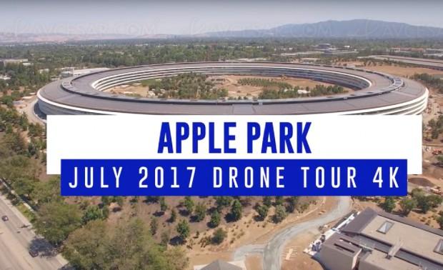 Chantier Apple Park, vidéo de juillet en 4K