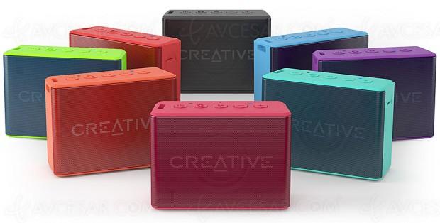 Coloris estivaux pour l'enceinte Bluetooth nomade Creative Muvo 2c