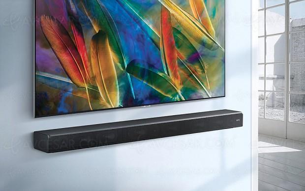 Samsung HW‑MS650/HW‑MS651, barres de son Sound+ avec caisson de graves intégré