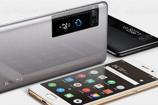 Smartphones Meizu Pro 7 et Pro 7 Plus, avec second écran 1,9