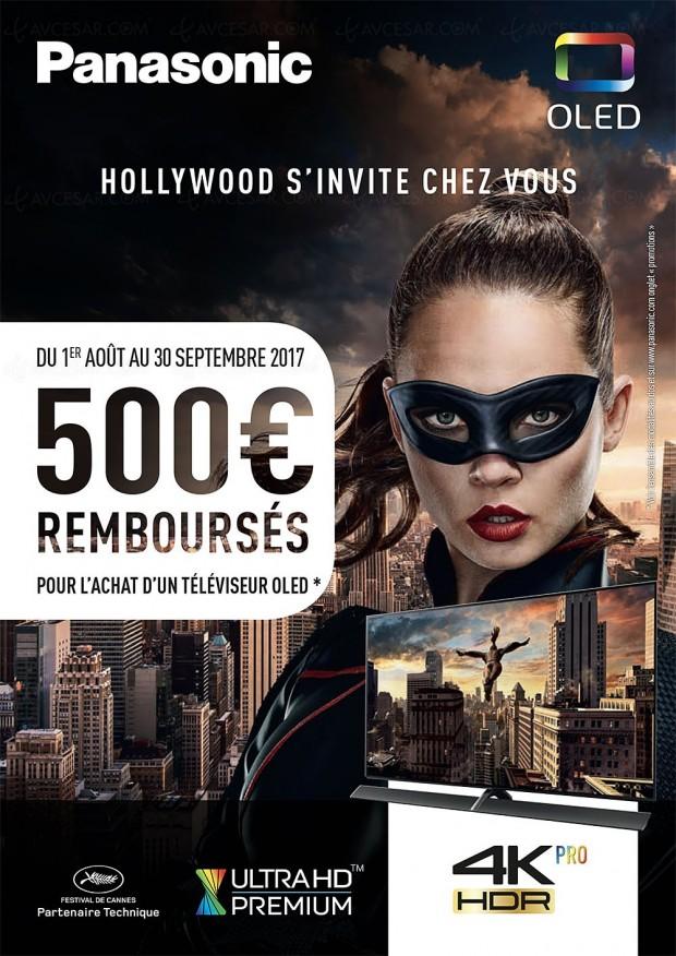 Offre de remboursement Panasonic TV Oled Ultra HD, jusqu'à 500 € remboursés