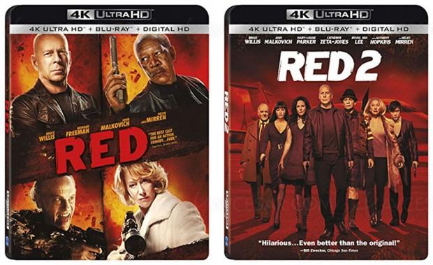 Red 1 et 2, Bruce « tout‑puissant » Willis en 4K Ultra HD Blu-Ray