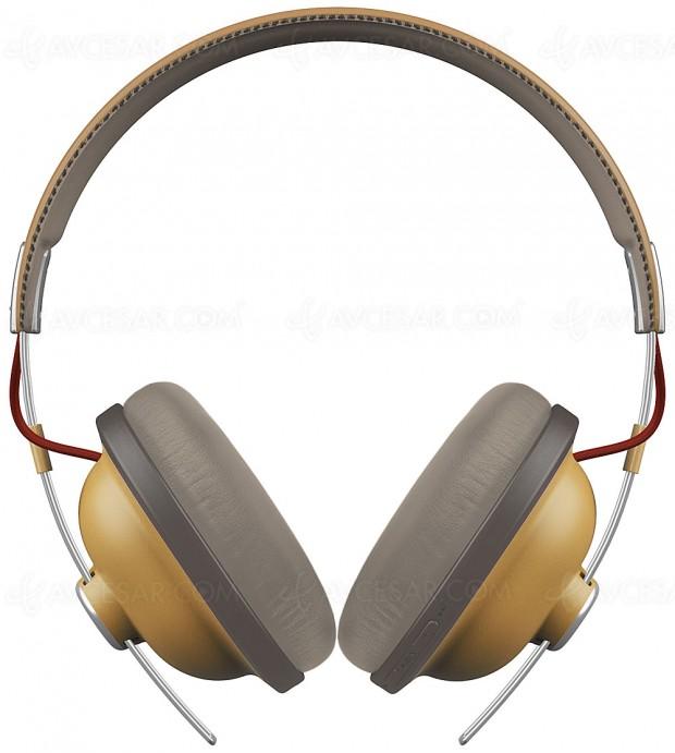 IFA 17 > Casque Bluetooth Panasonic RP‑HTX80B à la finition rétro