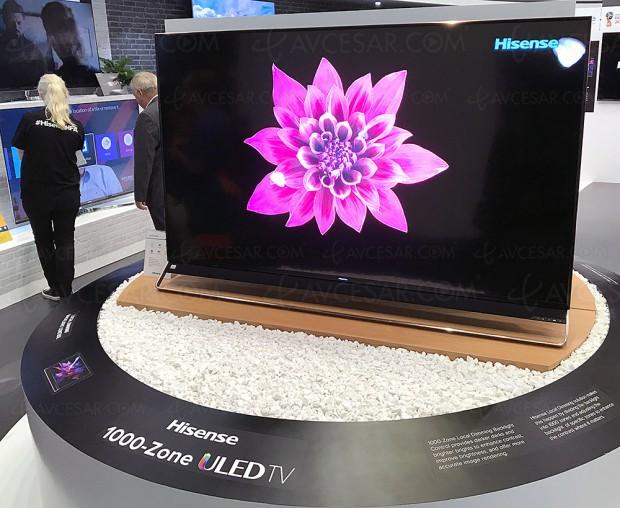IFA 17 > TV Uled Hisense H75U9, Quantum Dots et 1 000 zones