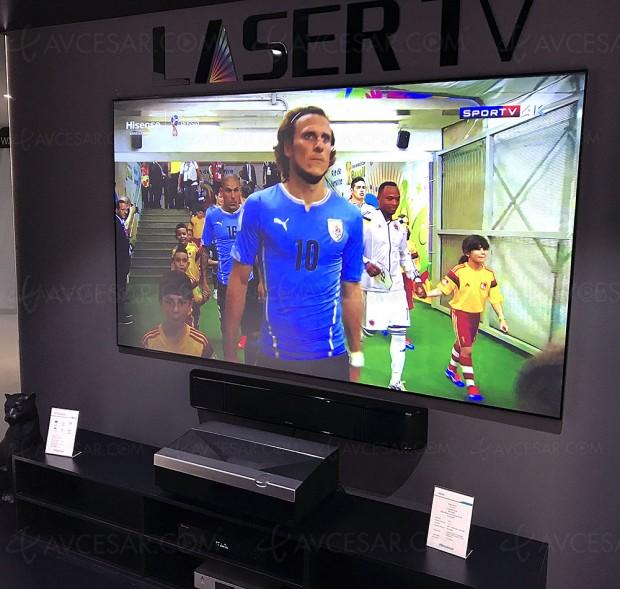 IFA 17 > Laser TV Ultra HD Hisense HE100LN60, vidéoprojecteur ultra courte focale