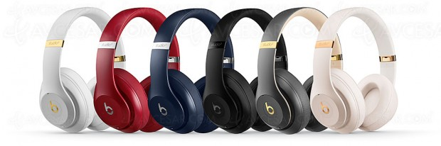 Casque Beats Studio3 Wireless à réduction active de bruit ou 40 heures d'autonomie