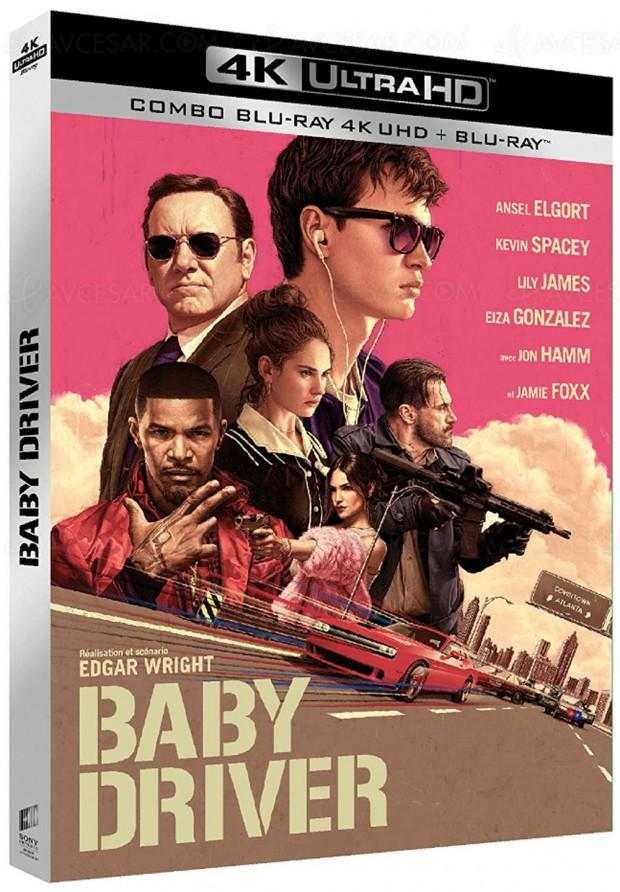 Baby Driver en 4K Ultra HD Blu‑Ray, sans doute un des « must AVCésar » de la fin d'année