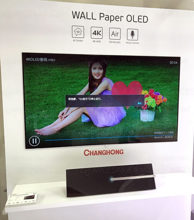 IFA 17 > Concept TV Oled Wallpaper signé ChangHong/Chiq