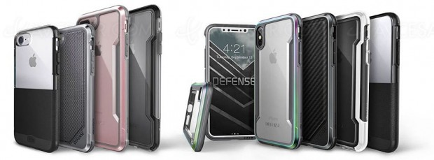 iPhone 8/8 Plus et iPhone X protégés avec les coques X‑Doria Defense Clear, Defense Shield et Defense Lux
