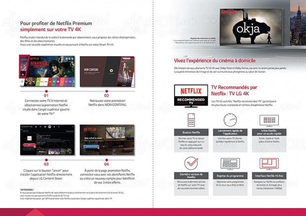 3 mois d'abonnement Netflix gratuit pour l'achat d'un TV Ultra HD LCD/Oled LG