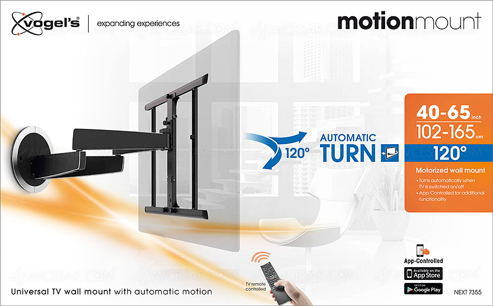 support mural tv rotatif vogel 39 s motionmount next 7355. Black Bedroom Furniture Sets. Home Design Ideas