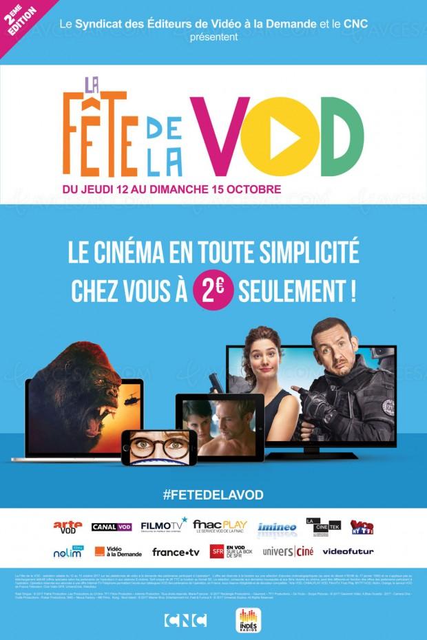 Seconde Fête de la VOD imminente, 3 € le film en HD, profitez-en !