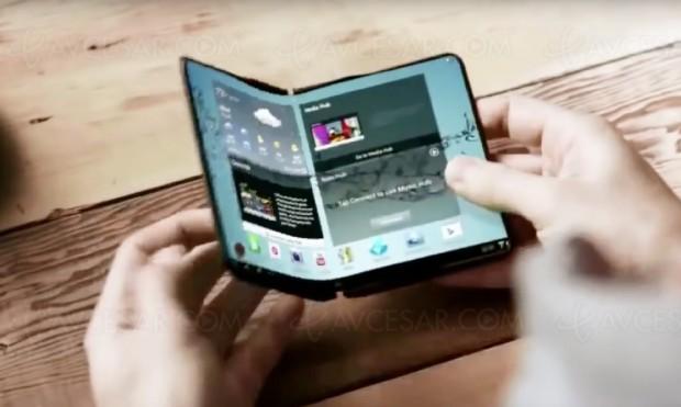 Smartphone Samsung Galaxy X à écran pliable, sortie dès 2018 ?