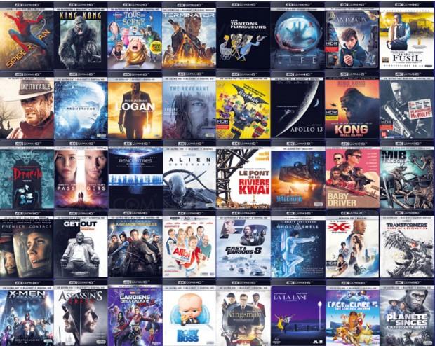 Planning 4K Ultra HD Blu‑Ray : 130 titres 4K en un seul coup d'œil