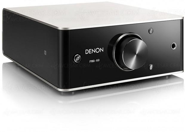 Denon PMA-60, amplificateur stéréo/Dac 384 kHz/32 bits et réseau Bluetooth/NFC