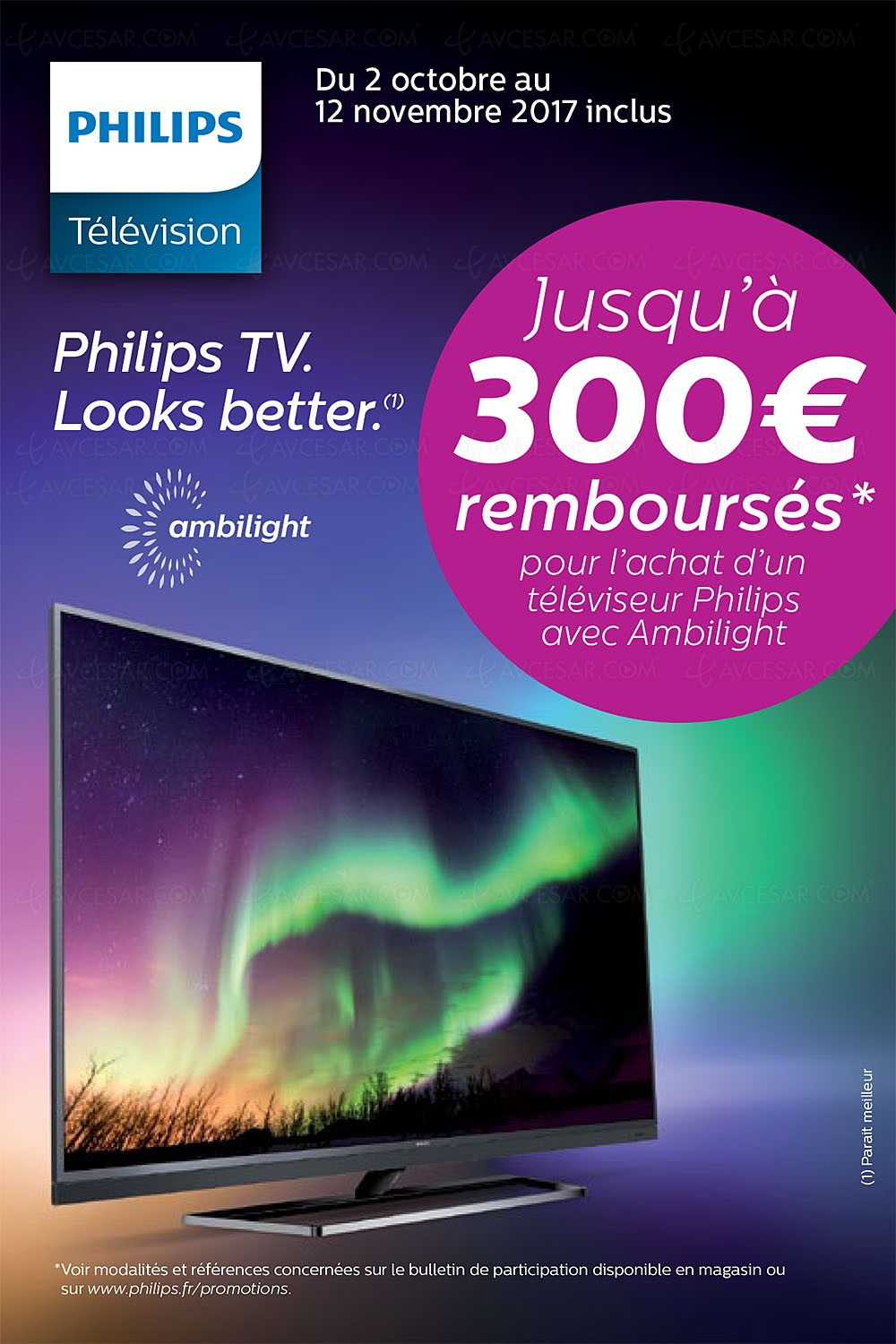 offre de remboursement philips tv ultra hd jusqu 39 300 rembours s. Black Bedroom Furniture Sets. Home Design Ideas