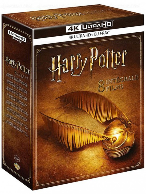 Coffret Harry Potter l'intégrale en 4K Ultra HD Blu-Ray le 11 novembre