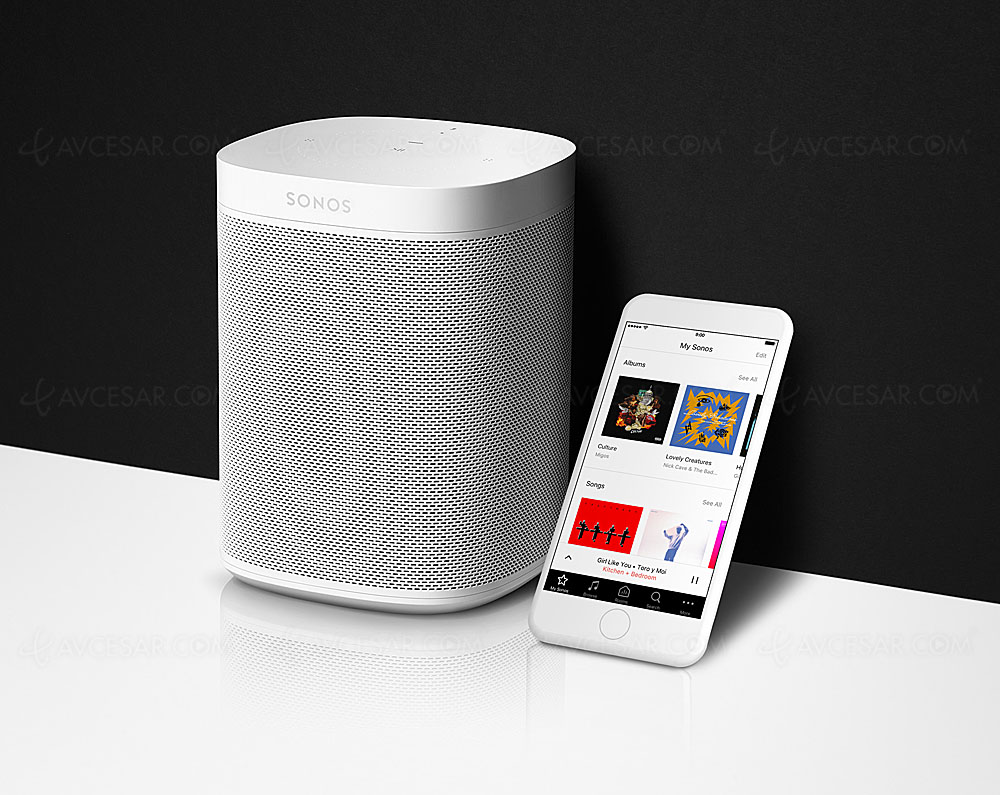 sonos one nouvelle enceinte multiroom wi fi avec amazon alexa et google assistant. Black Bedroom Furniture Sets. Home Design Ideas