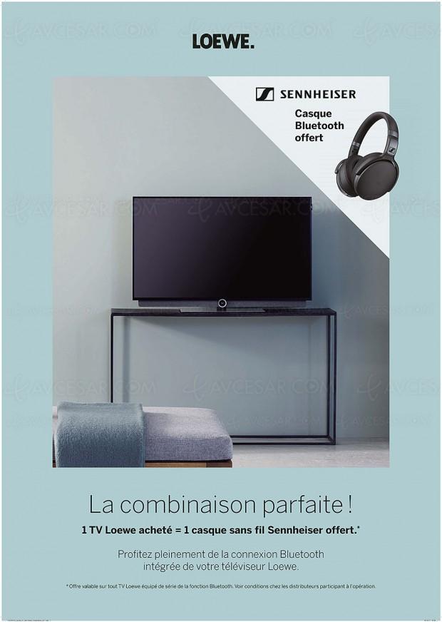 Offres promotionnelles de fin d'année Loewe : jusqu'à 2 400 € de remise immédiate, ou 1 casque Sennheiser offert, ou 1 module Fransat offert
