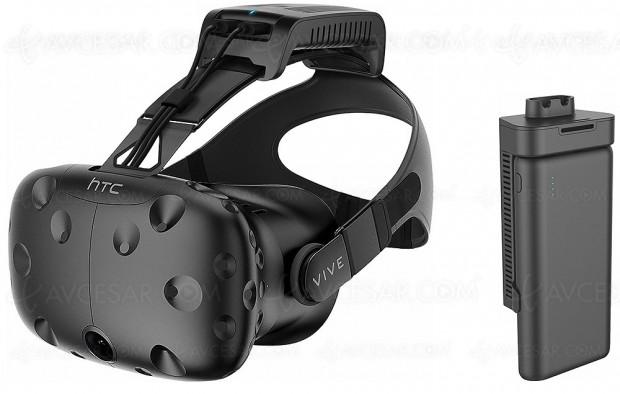 Casque réalité virtuelle HTC Vive sans‑fil avec TPCast