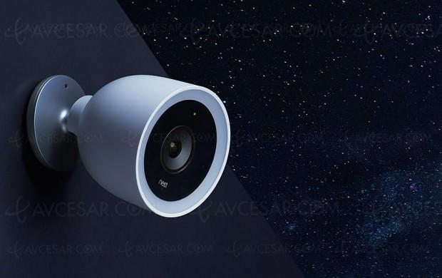 Caméra de sécurité pour l'extérieur 4K Nest Cam IQ