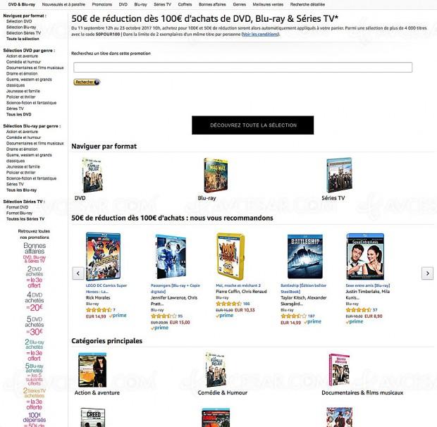 Amazon bonnes affaires, 7 853 BD/DVD et Séries TV à petit prix
