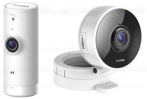 Caméras de sécurité Wi‑Fi D‑Link DCS‑8000LH et D‑Link DCS‑8100LH